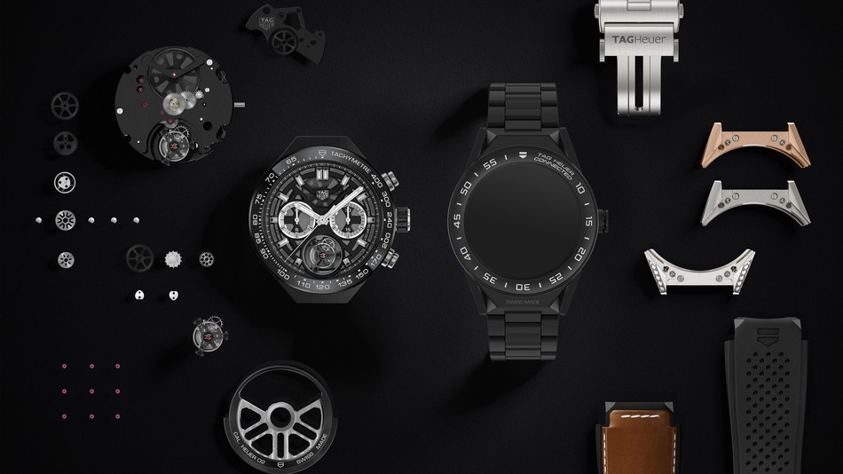 TAG Heuer Connected Modular 45, smartwatch modulare da 1600$