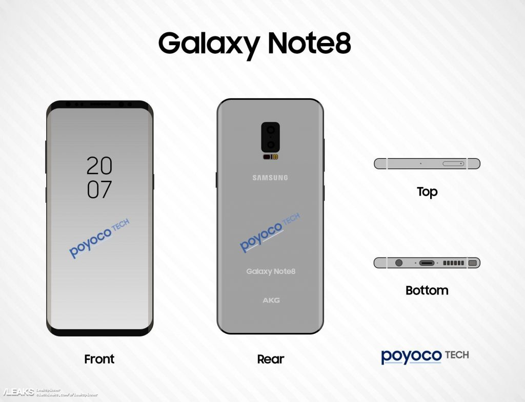 Galaxy Note 8: infinity display e Android 7.1.1 come Galaxy S8