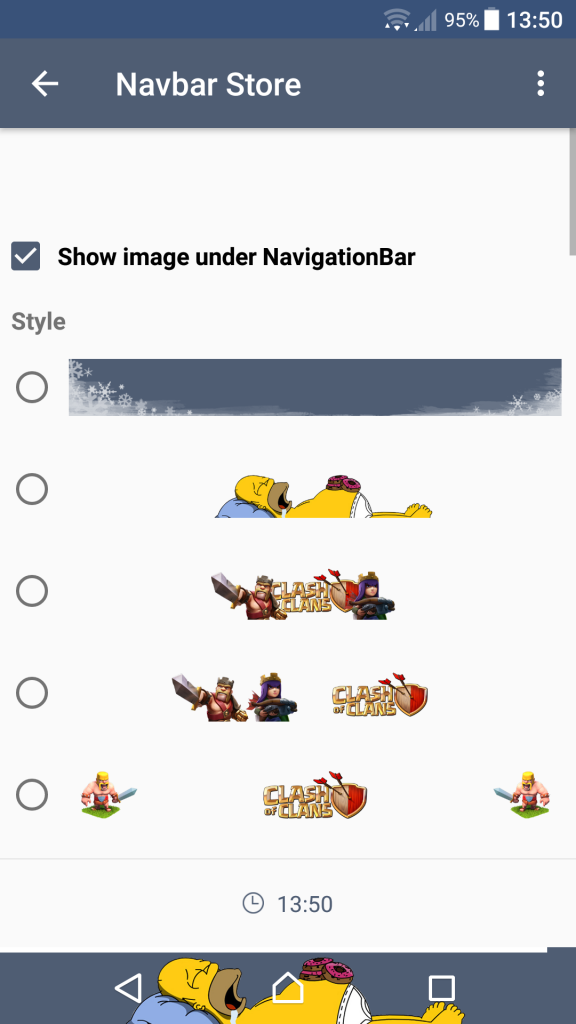 Personalizzare navigar Android 4