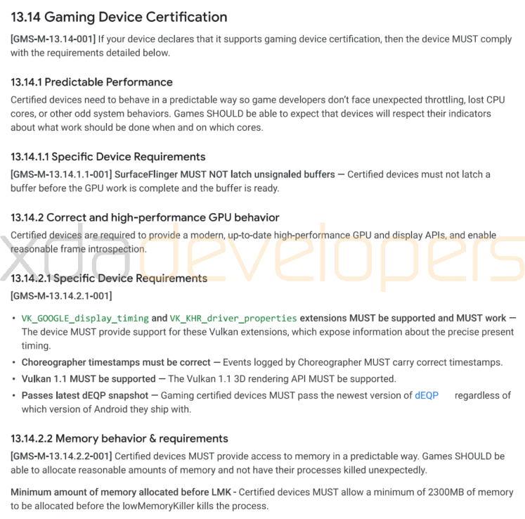 Game Device Certification