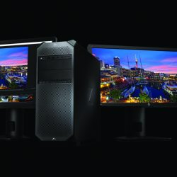 HP Z6 Workstation with dual HP Z27x_Displays