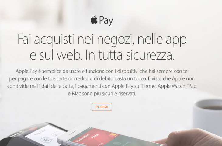 Apple Pay è in arrivo in Italia